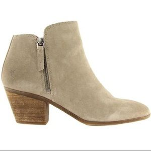 Frye Judith Suede Leather Double Zip Ankle Boots 9